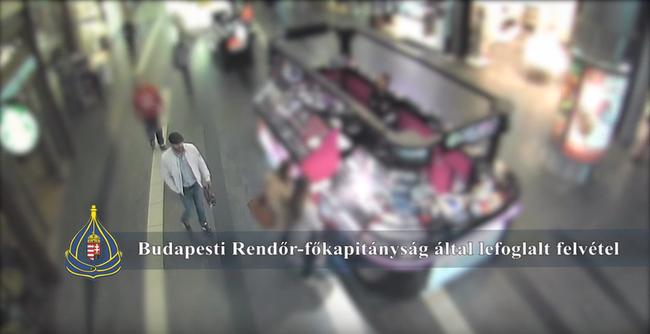 Felismeri? Ez a férfi másfél milliós órát lopott egy üzletből - videó
