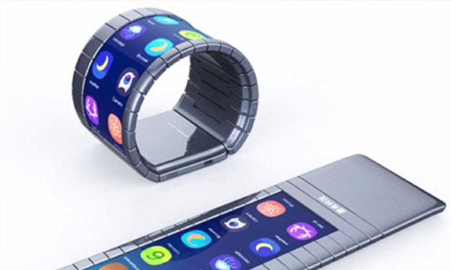 Karkötőként is használható a világ első hajlítható okostelefonja