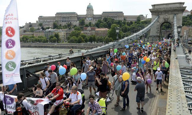 Több száz ember vonult fel a fogyatékossággal élőkért - képgaléria
