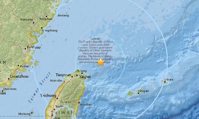 Erős földrengés volt Tajvanban