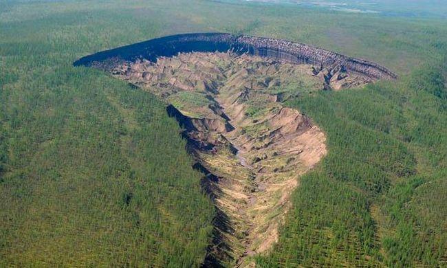Kráterek keletkeznek Szibériában a klímaváltozás miatt