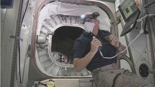 Kipróbálta az első űrhajós az új felfújható szobát az űrben