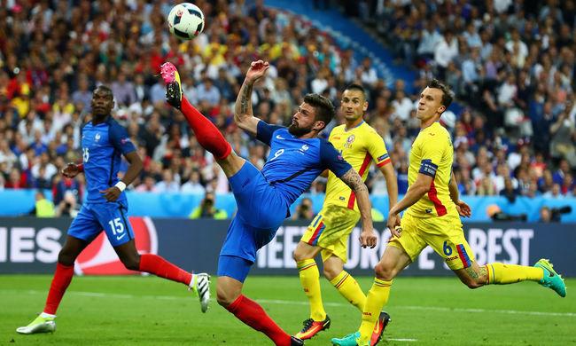 Bombagóllal húzták be a franciák az első meccsüket az Európa-bajnokságon