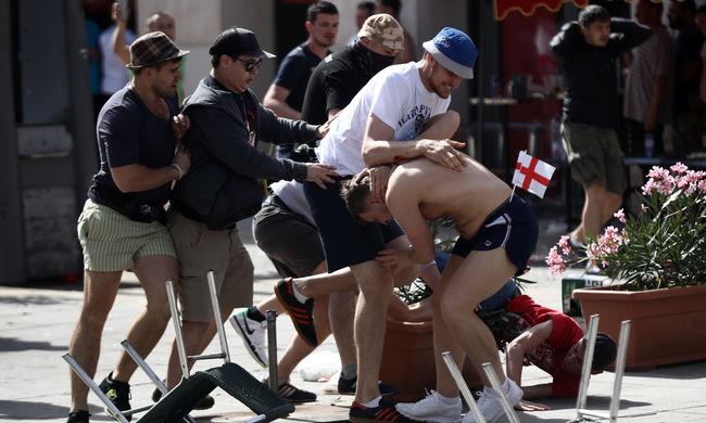 Háborús állapotok Marseille-ben az angol-orosz meccs előtt - videók