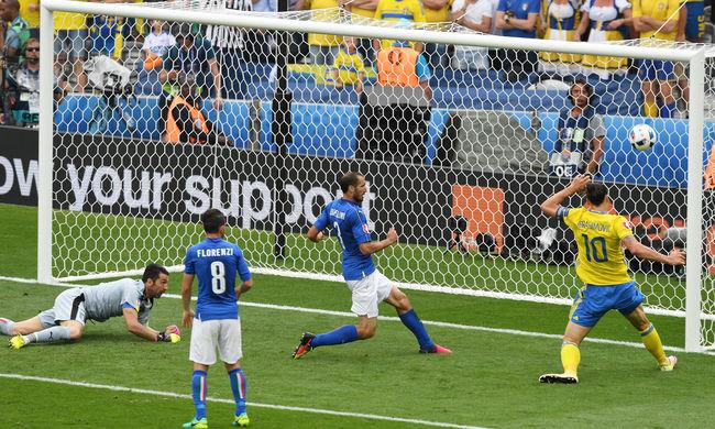 Hajrában lőtt góllal nyertek az olaszok a svédek ellen - videó