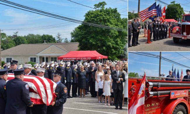 A vérét temették el a hős tűzoltónak, aki szeptember 11-én életeket mentett