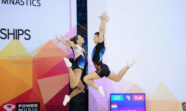 Két magyar ezüstérem az aerobik-világbajnokságon