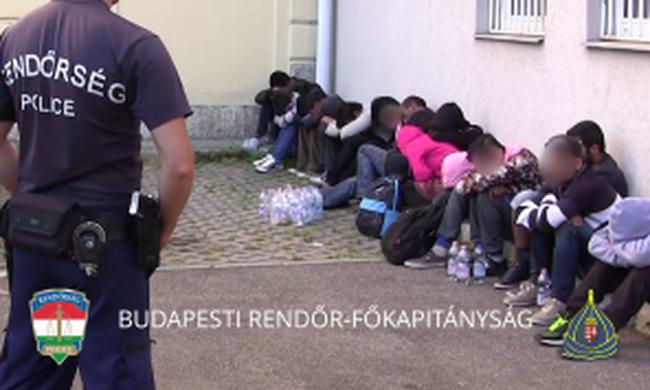 Illegális bevándorlókat fogtak a XI. kerületben - videó