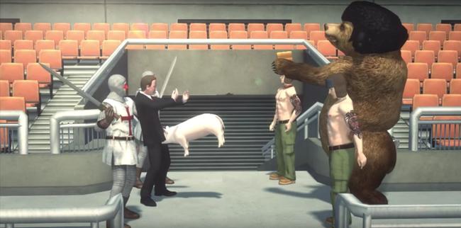 Erzsébet királyné baseballütővel veri Putyint az év legdurvább rajzfilmjében