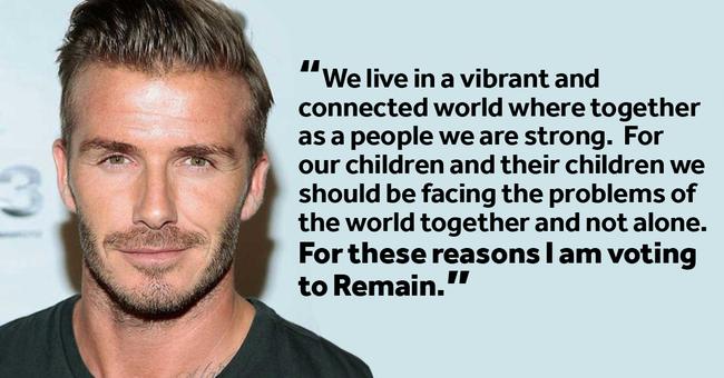 David Beckham is az Unió mellett kampányol