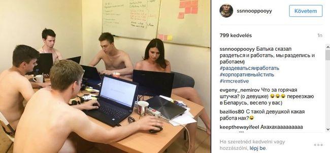 Meztelenül járnak dolgozni a fehéroroszok egy félreértés miatt