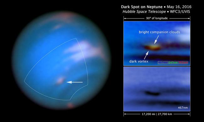 Újabb sötét örvény tűnt fel a gázbolygón