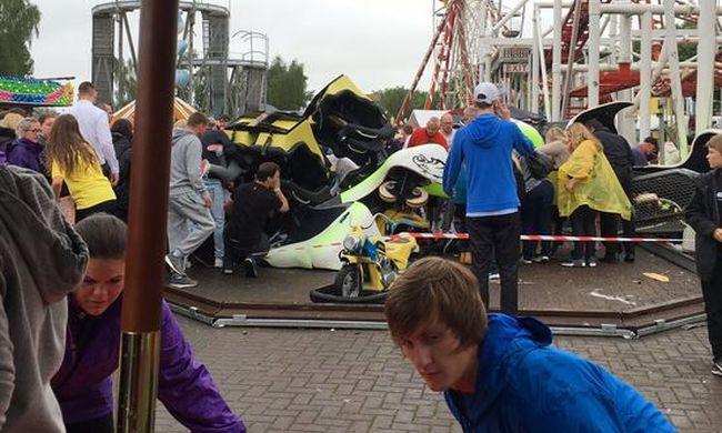 Tragédia: kisiklott és lezuhant a hullámvasút - több gyerek ült benne