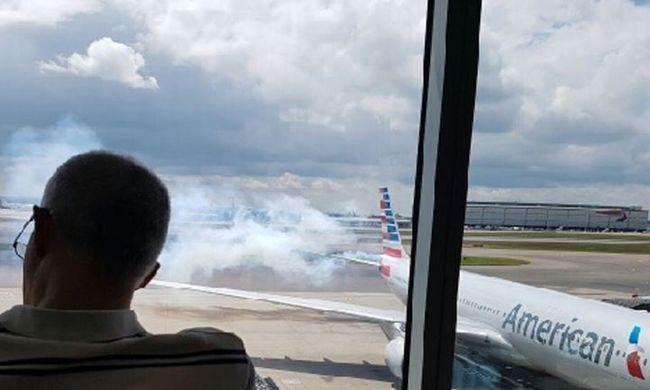 Ki kellett üríteni egy repülőt, mert füst öntötte el a gépet