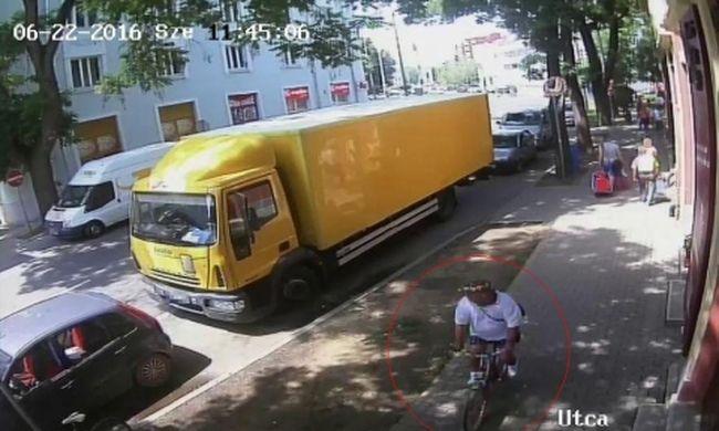 Feltűnés nélkül akart eltekerni a tolvaj, pechjére felvette a kamera