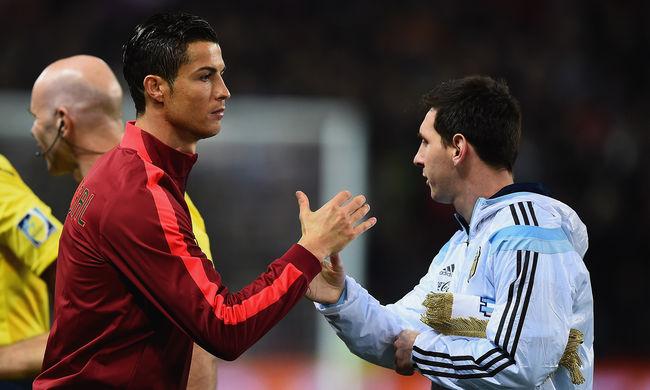 Cristiano Ronaldo olyat csinált Messivel, amit még soha