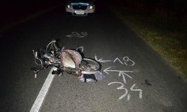 Szörnyethalt az elgázolt biciklis