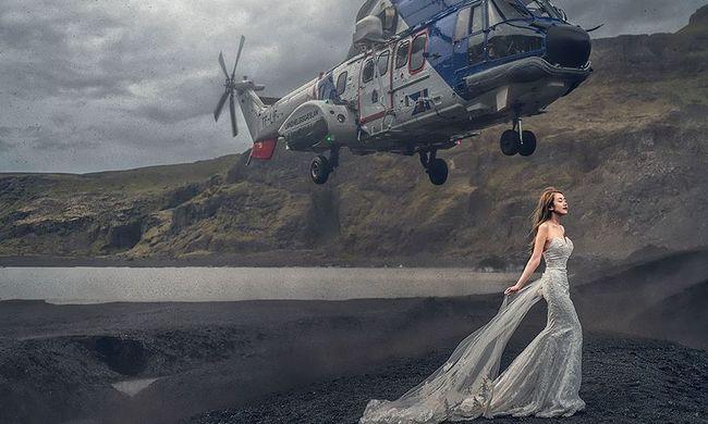 Majdnem tragédia lett az őrült esküvői fotóból