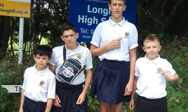 Szoknyában járnak iskolába a fiúk, így tüntetnek