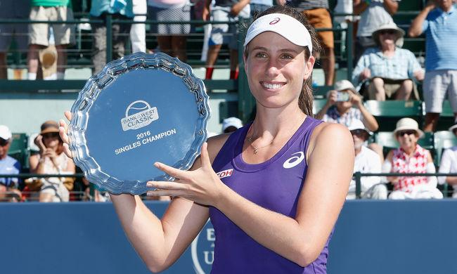 A magyar származású teniszező világsztár megszerezte első WTA-trófeáját