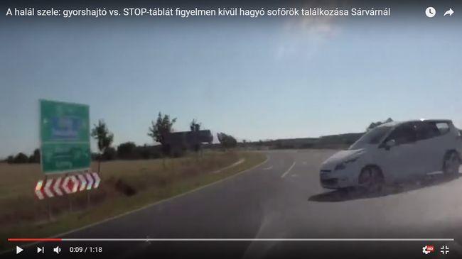 Íme a halál közelről! - Autós videó készült Sárvárnál