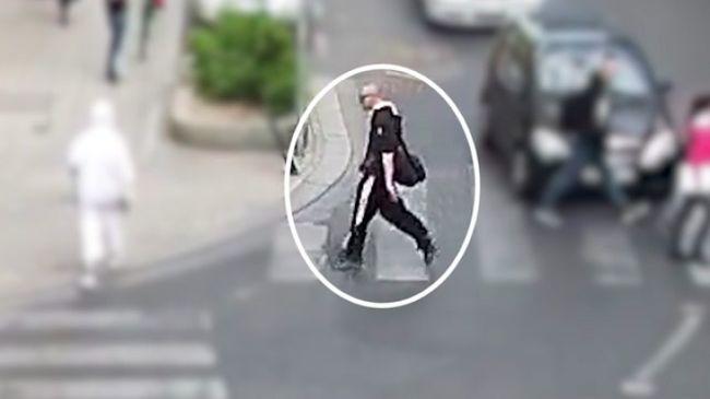 Fogta magát, és leütötte a gyalogost - videó