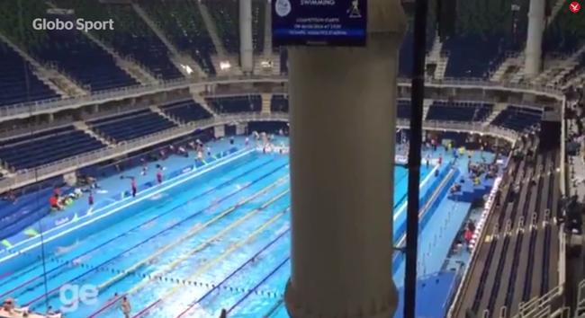 Semmit nem láttak az olimpiából, mert előttük volt egy oszlop - videó