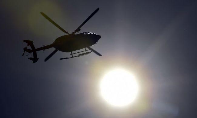Beteggel együtt zuhant le a mentőhelikopter