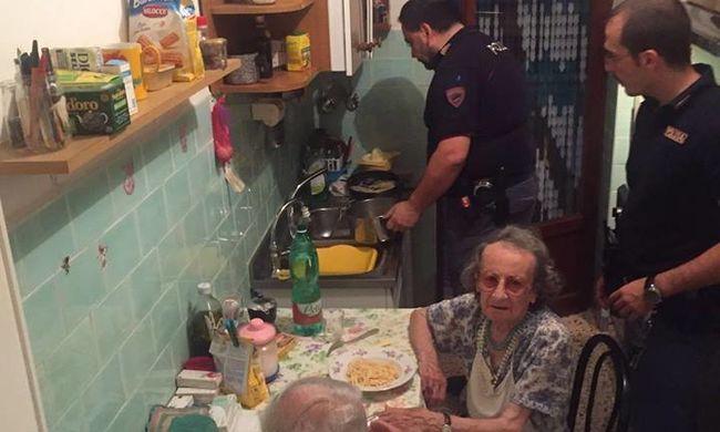 Síró párhoz hívták ki a rendőröket, tésztát főztek nekik