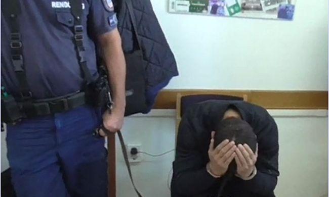 Így fogta a fejét a rendőrségen a soproni tolvaj