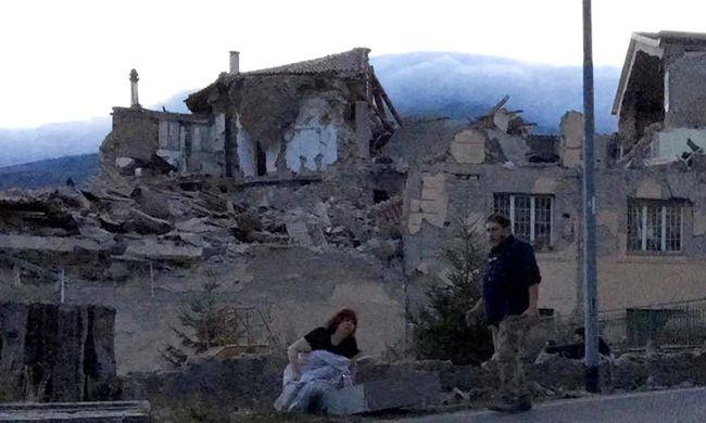 Szétrobbantak a házak a földrengéstől - fotók az olasz kisvárosról