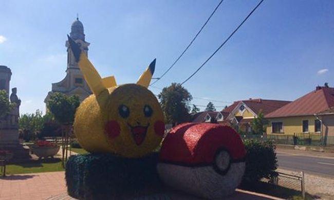 Ebben a magyar faluban szobrot állítottak a Pokémonoknak - fotó
