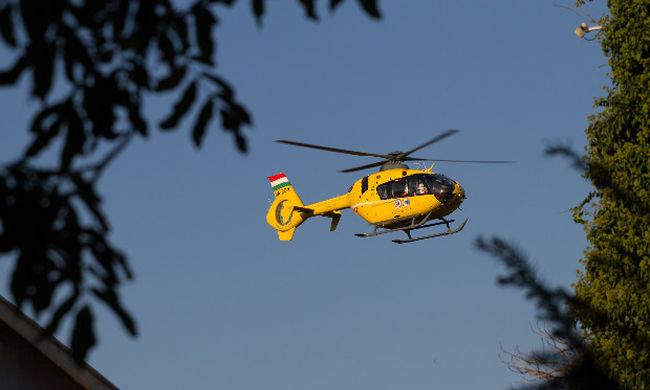 Helikopterrel mentették a fuldokló idős férfit