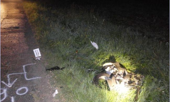 Előzés közben gázolta halálra a motorost, fotók a helyszínről