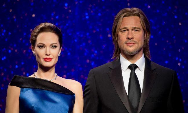Tényleg vége: már a viasz-Angelina Jolie is szakított Brad Pittel