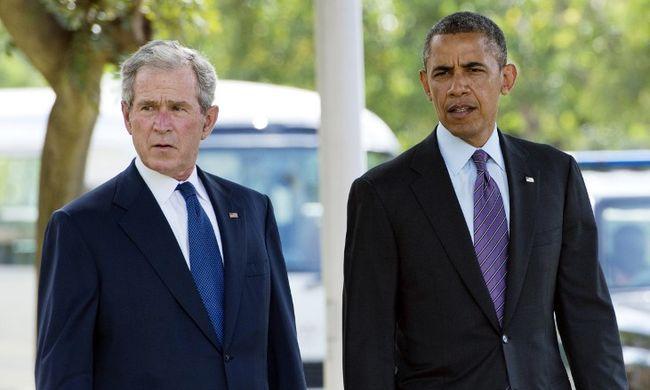 Elnökök egymás közt: Obama felcsapott Bush fotósának - videó