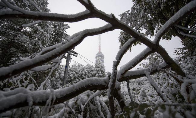 Így esett az októberi hó Magyarországon - videó
