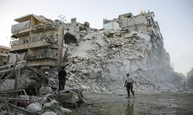Egy család 14 tagját ölték meg az orosz bombák
