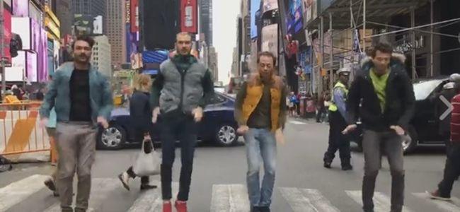 Magyarok táncoltak a Time Square zebráján - videó