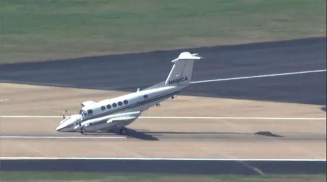 Orron csúszva landolt egy kisgép - videó