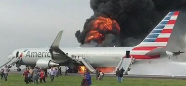 Felszállás közben gyulladt ki a repülőgép