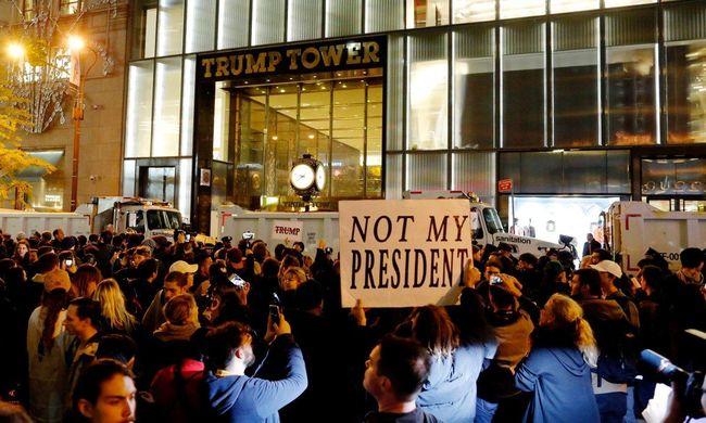 Még nincs vége: folytatódnak a tüntetések Trump ellen