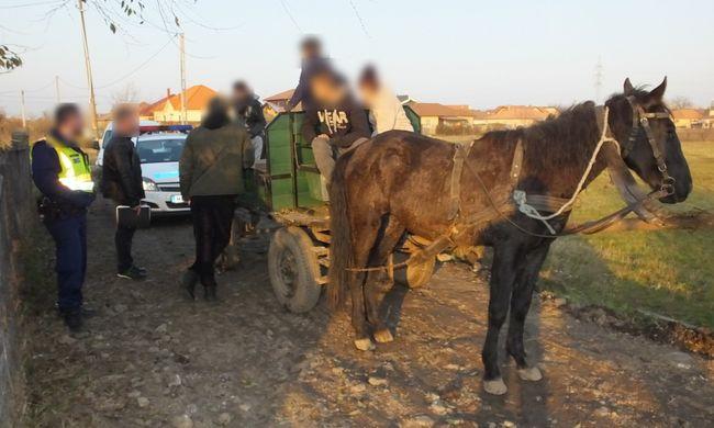 Lovaskocsival menekültek az irodát kifosztó gyerekbetörők
