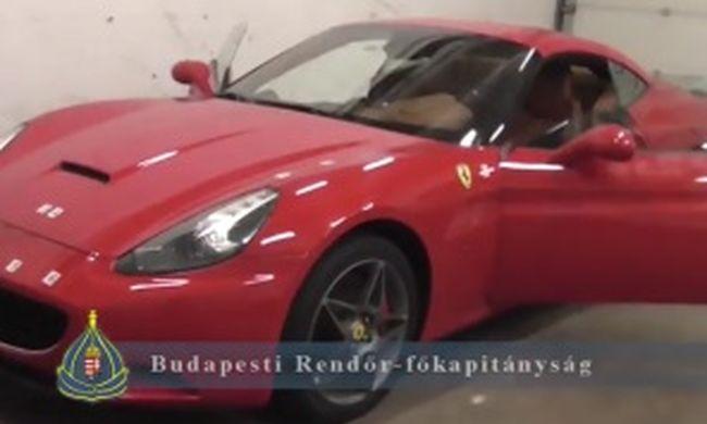 Újbudán rejtegette a spanyol Ferrarit - videó