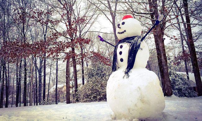 Összehozta az embereket a hóemberhadsereg, amit egy kislány kedvéért építettek