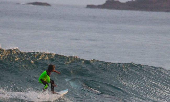 Tízéves szörfös kisfiú mellett úszott el a hatalmas fehér cápa - fotó