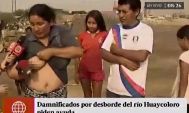 Élő adásban kezdett szoptatni egy kismalacot a nő - videó