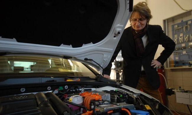Szelíd motoros szolgálati Porschéval