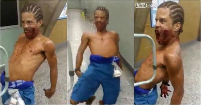 Vérző sebekkel, őrülten vihogva riogatta a betegeket a kórházban - videó