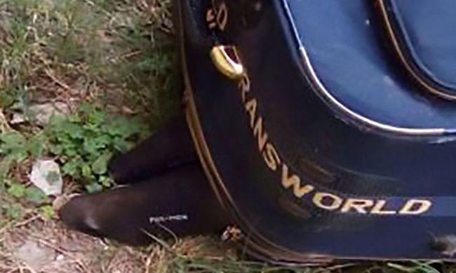 Levágott emberi lábak lógtak ki egy bőröndből